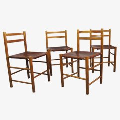 Vintage Dutch Design Dining Chairs by Ate van Apeldoorn, Set of 4