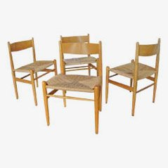 CH36 Esszimmerstühle von H.J. Wegner für Carl Hansen, 4er Set