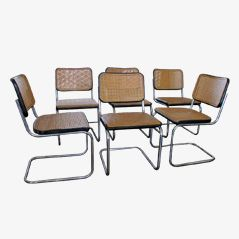 S32 Dining Chair by Marcel Breuer for Thonet, 1920s, Set of 6