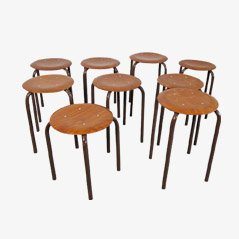 Industrial Stools from Marko, 1960s, Set of 8