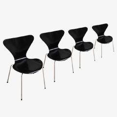 Series 7 Butterfly Chairs von Arne Jacobsen für Fritz Hansen, 4er Se