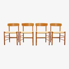 Dining Chairs by Børge Mogensen for FDB Møblefabrik, 1947, Set of 4