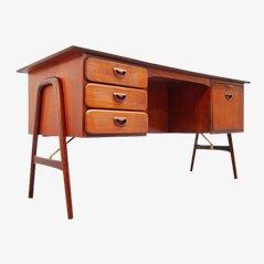 Boomerang Teak Schreibtisch von Louis van Teeffelen für Webe, 1960er