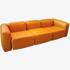 Leather Sofa from Luigi Sormani, 1970s