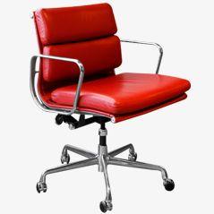 EA217 Softpad Stuhl von Charles & Ray Eames für Herman Miller