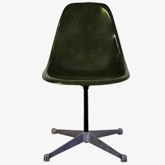 Olive Green Fiberglass PSC Chair by Eames for Herman Miller