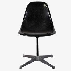 Schwarzer Glasfaser PSC Stuhl von Eames für Herman Miller