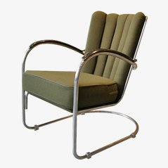 Model 412 Lounge Chair by W. H. Gispen for Gispen, 1930s