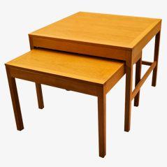 BM 5377 Nesting Tables by B. Mogensen for Fredericia, 1960s