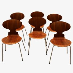 Ant 3101 Chairs by Arne Jacobsen for Fritz Hansen, 1969, Set of 6
