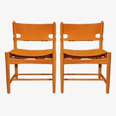 Dining Chairs by Børge Mogensen for Fredericia Stolefabrik, Set of 2