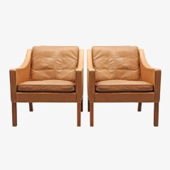 Model 2207 Armchairs by Borge Mogensen for Fredericia Stolefabrik, 1960s, Set of 2