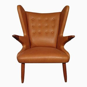 Mid-Century Teak & Leather Armchair by Svend Skipper for Skippers Møbler