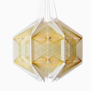 Sputnik Lampshade #12 Green & Gold by Julie Lansom