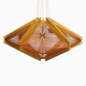 Paralume #10 Sputnik Mono color senape di Julie Lansom