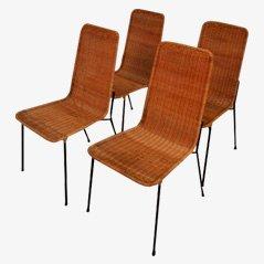 Esszimmerstühle von Carlo Pagani, 4er Set, 1950er