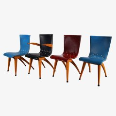Esszimmerstühle von Van Os Culemborg, 4er Set