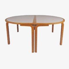 Mesa danesa oval, años 70