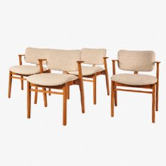Mid Century Dining Chairs by Ilmari Tapiovaara for Knoll International, 1950s, Set of 4