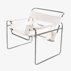 Vintage Chrome Pipe Easy Chair by Marcel Breuer