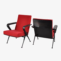 Industrial Easy Chairs by Friso Kramer for Ahrend de Cirkel, Set of 2