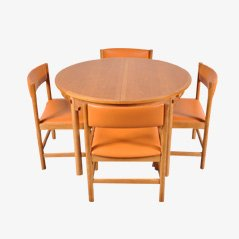 Oak Scandinavian Dining Set by Borge Mogensen for Karl Andersson & Söner