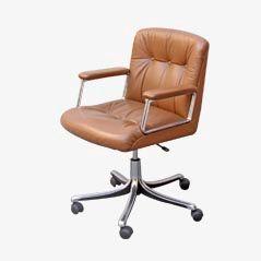 P125 Desk Chair by Osvaldo Borsani for Tecno