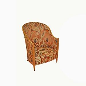 Art Nouveau Bergére Lounge Chair, 1900s