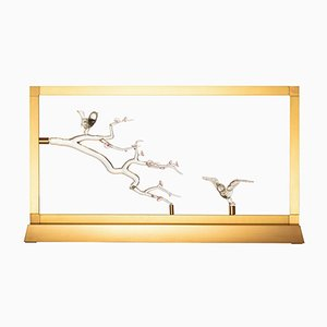 Bird Table Lamp from E-sumi Collection by Simone Crestani