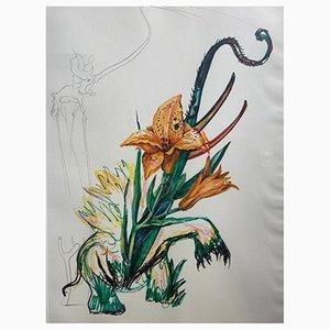 Lilies & Elephant de Salvador Dali para Edition Graphiques International, 1972