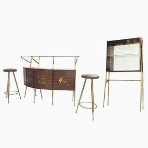 Rosewood Bar Set from Consorzio Esposizione Mobili Cantù, 1950s