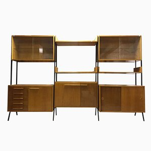 Mid-Century Beech Shelving Unit by Frantisek Jirák for Tatra, 1960s
