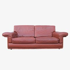Brown Leather Swiss Sofa from De Sede