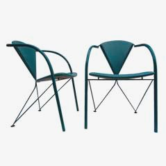 Turquoise Chairs by Matthias Gürtler for Artifort, 1988, Set of 2
