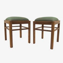 Oak Stools from Habeo, 1950s, Set of 2
