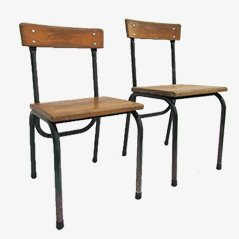 Children's Chairs by Willy van der Meeren for Tubax, 1950s, Set of 2