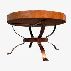 Mesa de centro vintage de tronco