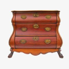 Antique Dutch Baroque Commode, 1850s