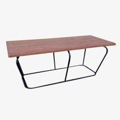 Industrieller Tisch aus Metall und Holz