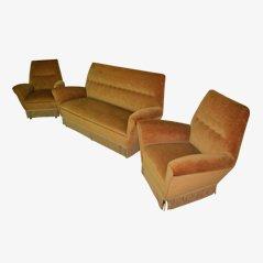 Sofa and Armchairs Set, 1950