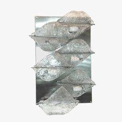 Wandleuchte aus Geätztem Glas von Zeroquattro, 1970