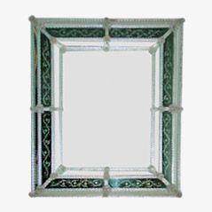 Italian Murano Glass Mirror, 1950s