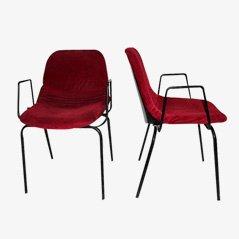 Vintage Schreibtisch Stühle von MIM, 1960er, 2er Set