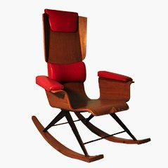 Mid Century Italian Rocking Chair, 1950s