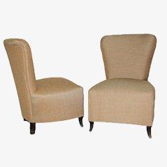 Italienische Mid Century Lounge Stühle, 1950er, 2er Set