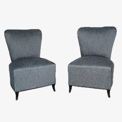 Italienische Mid Century Lounge Sessel, 1950er, 2er Set