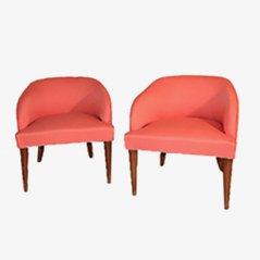 Mid Century Italian Armchair, 1950s, Set of 2
