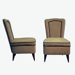 Mid-Century Italian Easy Chairs, 1950s, Set of 2