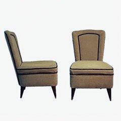 Mid Century Italian Easy Chairs, 1950s, Set of 2