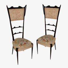 Italienische Mid-Century Beistellstühle, 2er Set